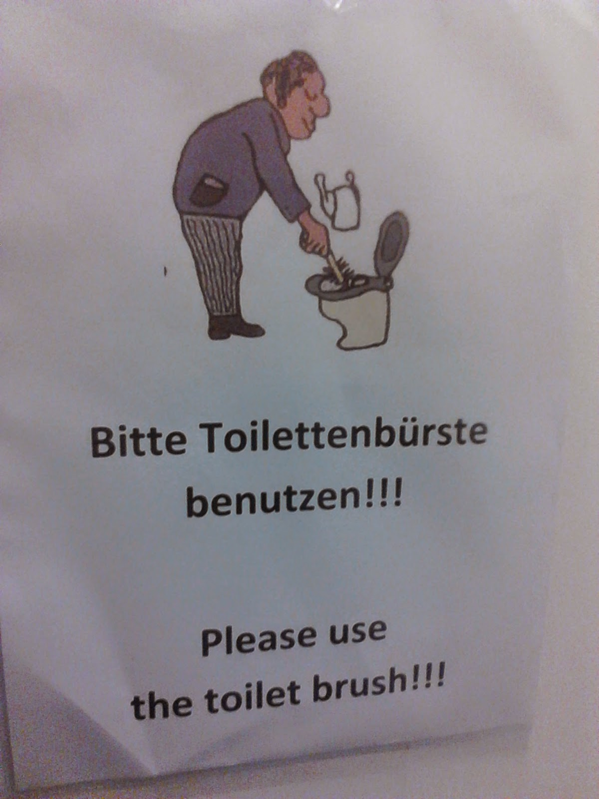 Toilettenbürste Rewe Around The Wherever August 2014