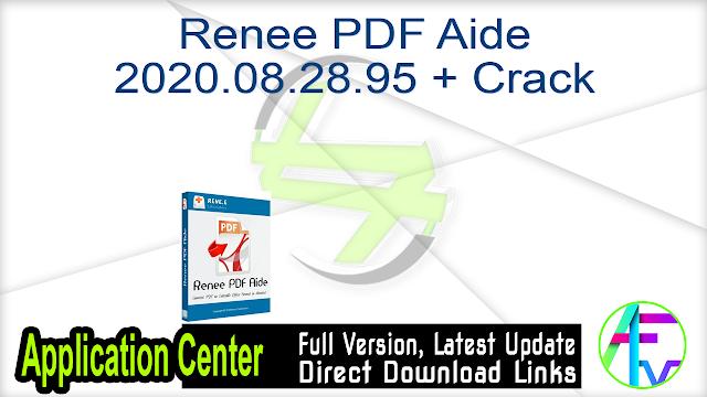 Renee PDF Aide 2020.08.28.95 + Crack