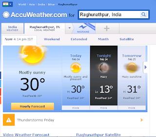 रघुनाथपुर के मौसम के लिए यहाँ  दबाये
