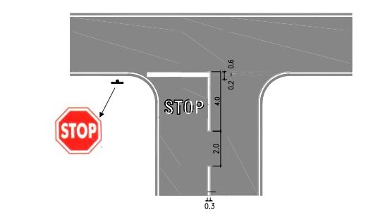 batas berhenti kendaraan saat mendahului kendaraan lain