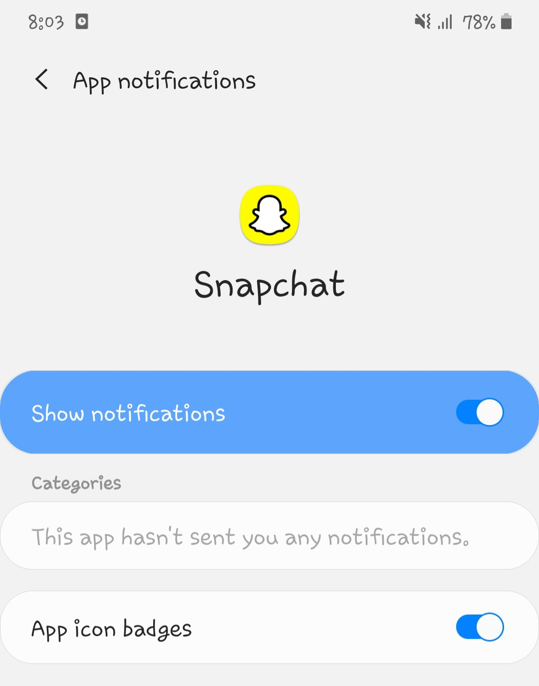 Block Snapchat notifications on Android