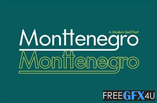 Monttenegro Font
