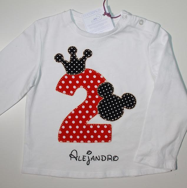 camiseta cumpleaños 2 años mickey mouse