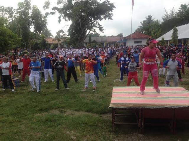 Senam, Jalin Kebersamaan Untuk Membangun OKI Dari Desa
