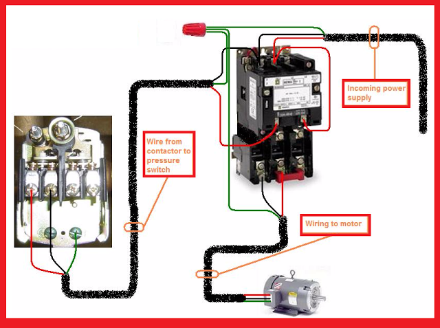 Air Compressor Wiring Diagram 230v 1 Phase Toyota Land Cruiser Alternator Electrical Page: Single Motor Contactor