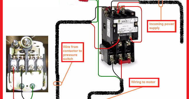 Single%2BPhase%2BMotor%2BContactor%2BWiring%2BDiagram electrical contactor wiring diagram 3 phase contactor with cutler hammer motor starter wiring diagram at crackthecode.co