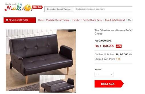Kursi Sofa Bed Murah MatahariMall
