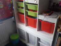 Dan Jon's unit from Ikea for clothes storage