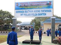Dirpolairud Polda Banten Pimpin Upacara Pelepasan Keberangkatan Penyelam ke Manado