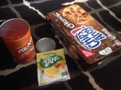 1st snack using blogging money