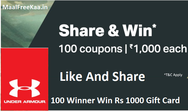 Now In India Under Armour Share & Win Contest - Free Samples ...