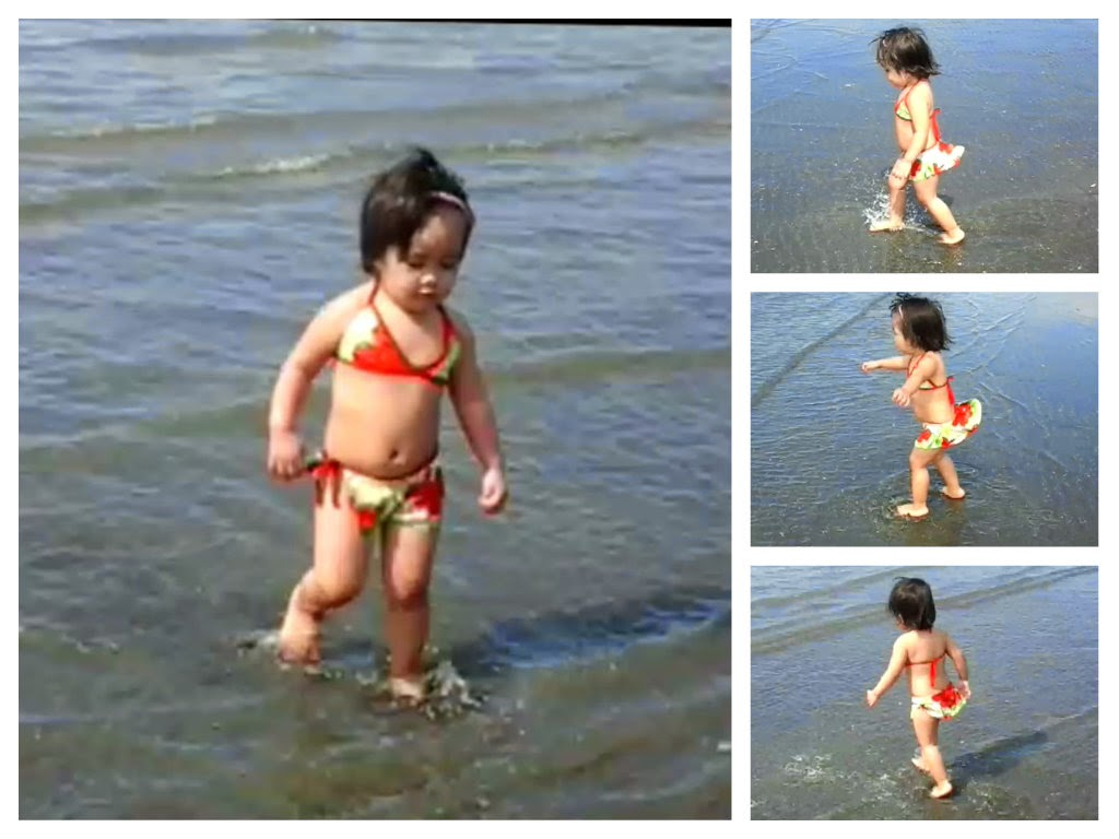 Inday Sophie Enjoying Freely the Sea Water
