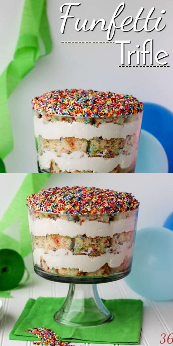 Funfetti Trifle #dessertrecipes