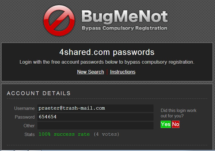 Get Premium Username Password for any sites without Hacking
