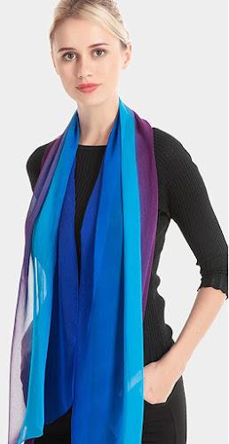 Beautiful Silk Chiffon Scarves Shawls