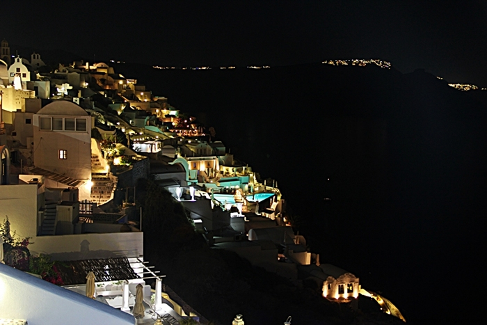 Oia Santorini at night