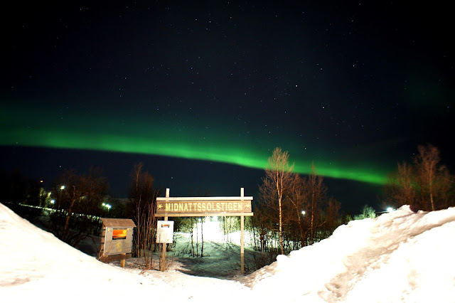 Northern Lights from Camp Ripan Kiruna Hotels in Sweden