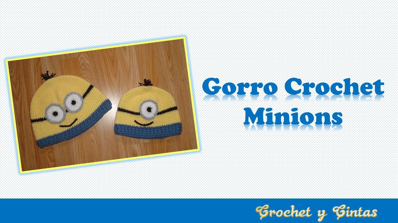 8b15a4e27 Gorro crochet inspirado en Minions ~ Crochet y Cintas