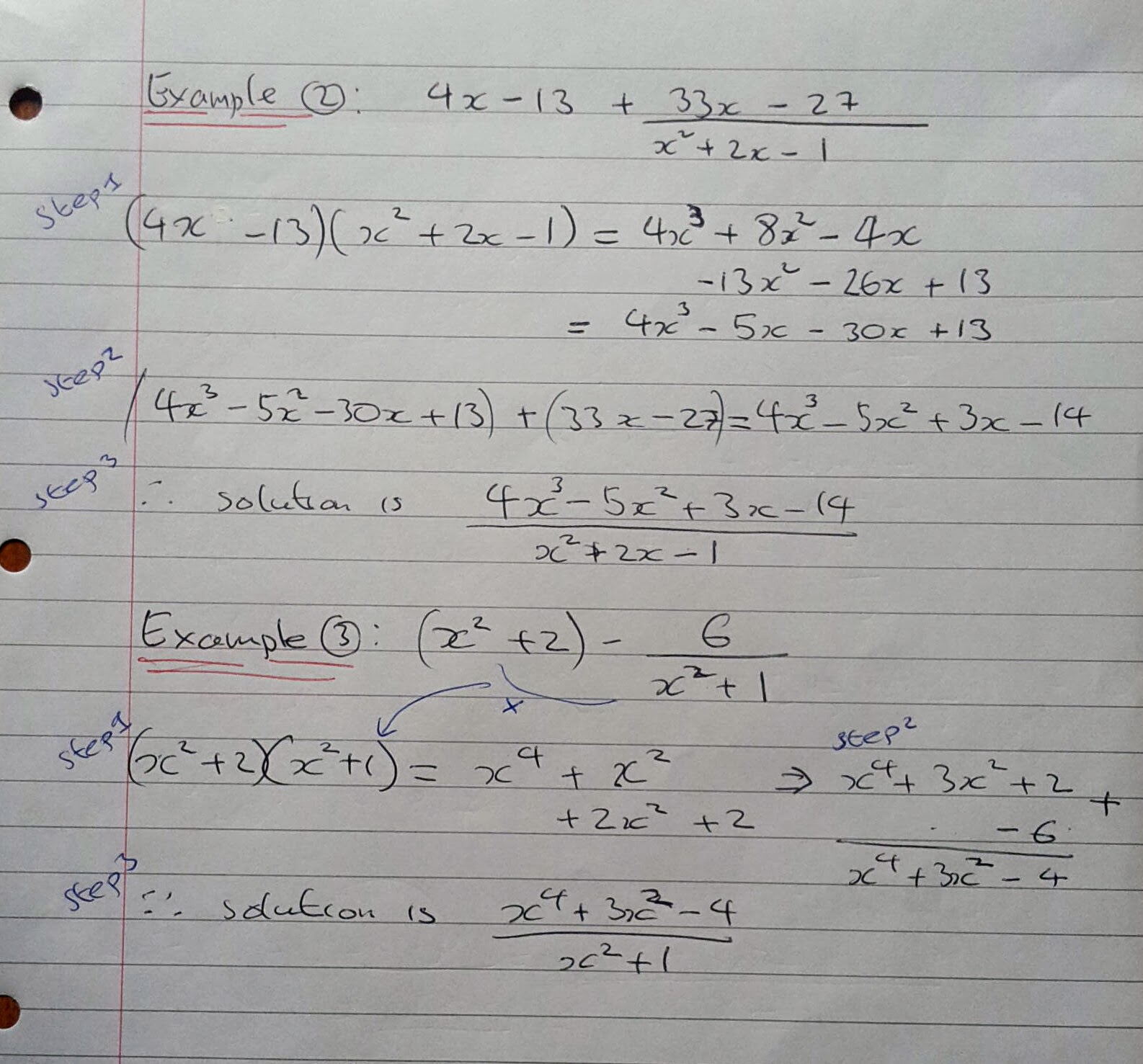 Algebraic Fractions Edexcel Answers
