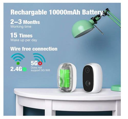 Conico 10000mAh Battery Powered Wireless Outdoor Camera