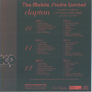 Eric Clapton - 1987-01-11 - London, UK (SBD)