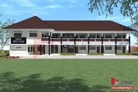 contoh desain gedung sekolah 2 lantai