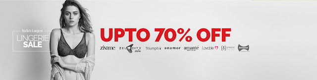 Zivame  Offer : Buy Lingerie at Rs.400 Upto 70% Off