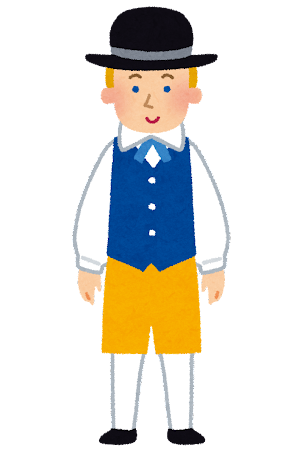 民族衣装を着たスウェーデンの男性のイラスト