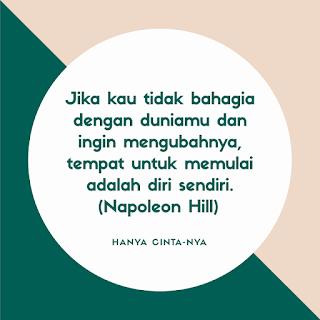 Quote Hanya Cinta-Nya, Napoleon Hill