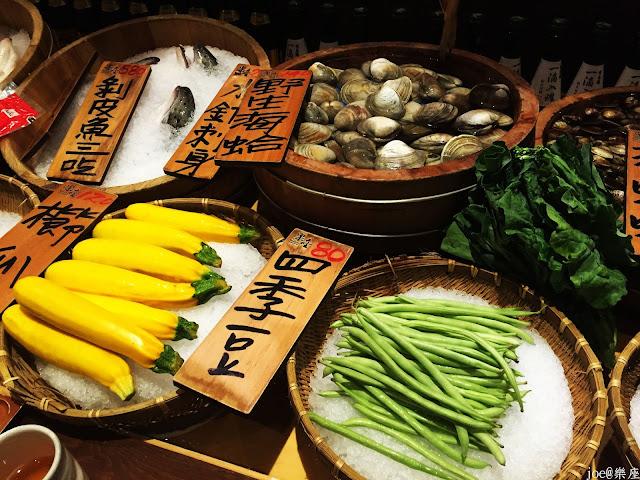IMG 9618 - 【台中美食】來自日本傳統好滋味的 樂座端爐燒 @日本古早味@新鮮海鮮@新鮮蔬果~
