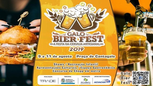 Cantagalo: 3º Galo Bier Fest - A Festa da Cerveja Artesanal acontece em agosto