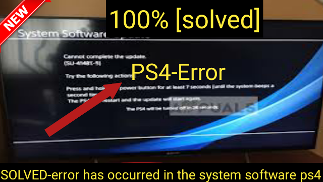 How do you fix a serious error has occurred in the system software ps4,fix a serious error has occurred in the system software ps4, error has occurred in the system software ps4, it support