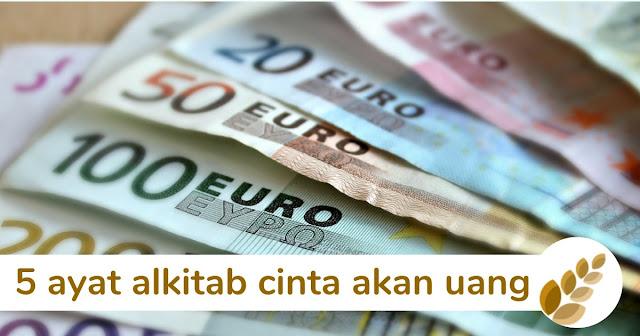 5 ayat alkitab cinta akan uang