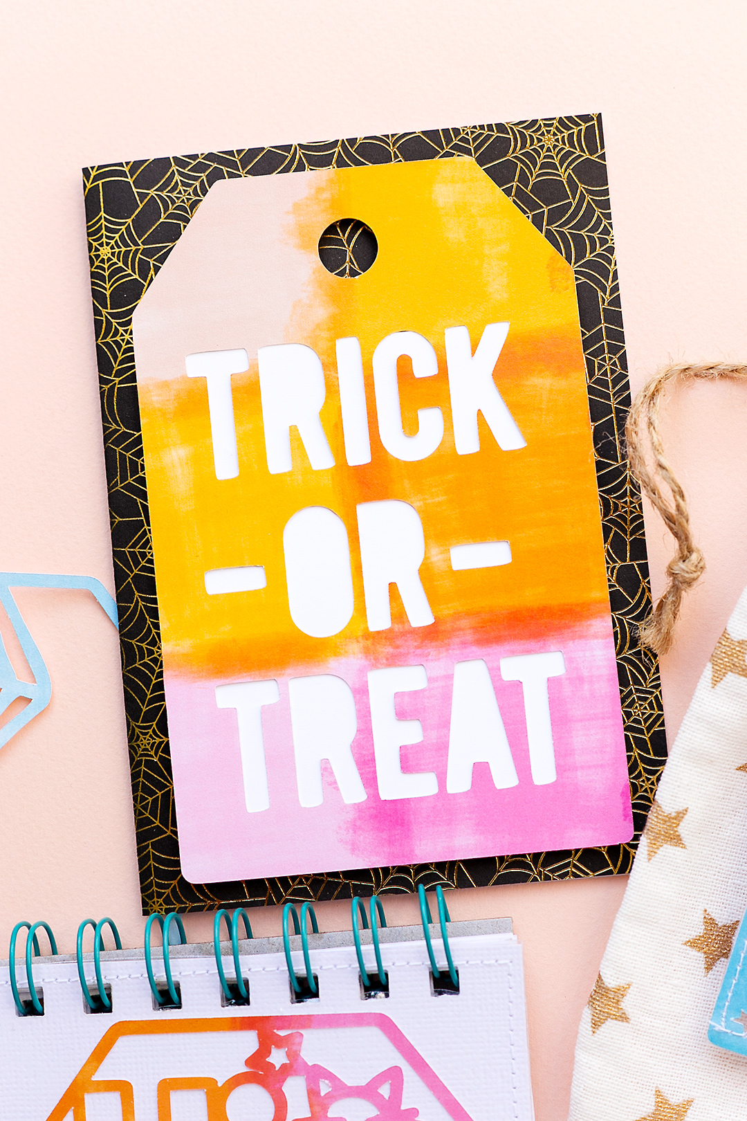 Simple Trick or Treat Card with tag cutfile