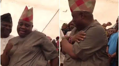 Senator Ademola Adeleke Dancing And Spraying Dollars At A Party (Photo/Video)