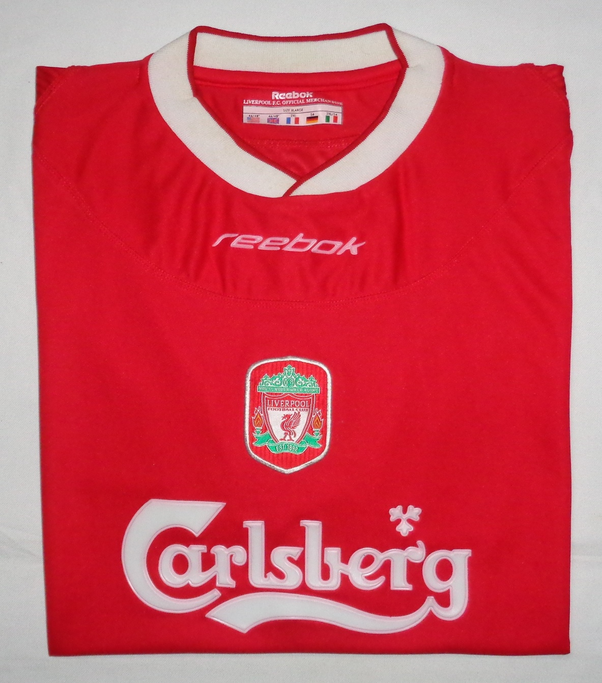 size 40 c8e98 721ab suedeheadbundles: Liverpool 2002/04 Home Jersey