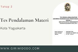 Soal TPM ASPD SMP Kota Yogyakarta 2021 tahap 2