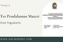 Kunci Jawaban Soal TPM ASPD SMP Kota Yogyakarta 2021 tahap 2