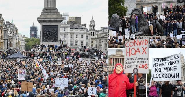 Massa yang Tak Percaya Virus Corona Gelar Demonstrasi Besar-besaran di Inggris dan Jerman