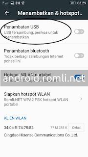 Cara Menjadikan Android Sebagai Modem (USB Tethering)