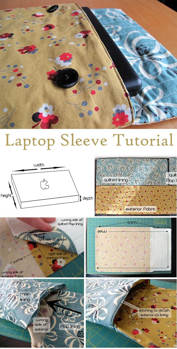 Laptop Sleeve DIY Tutorial