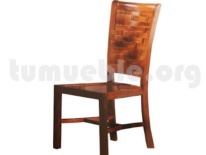 silla comedor en teca 4164