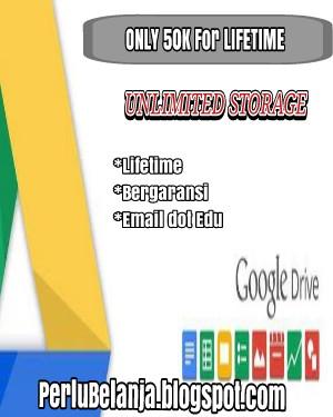 Google Drive Unlimited Lifetime dot Edu Murah