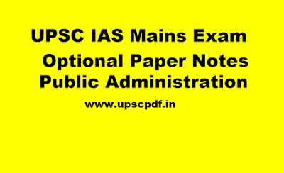 Public-Administration-Notes-UPSC-IAS