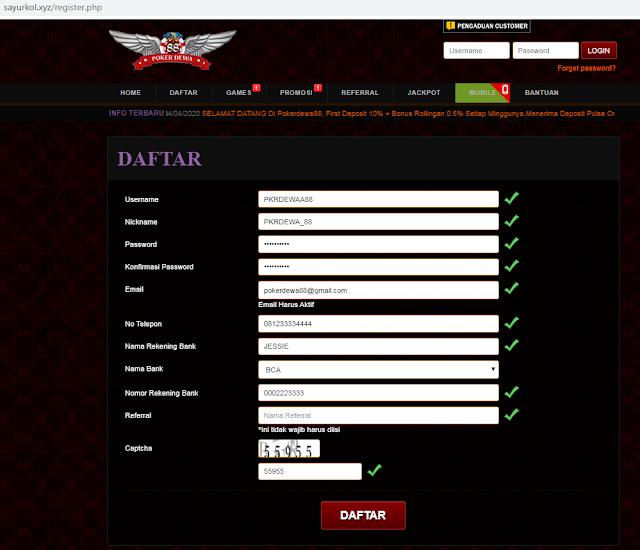 Cara Daftar Situs Pokerdewa88