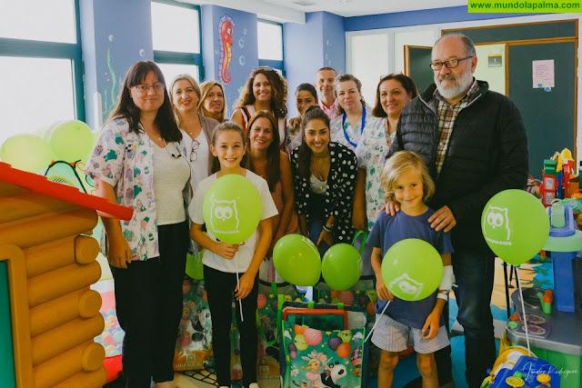 Los niños del Hospital General de La Palma cuentan con nuevos juguetes y material de ocio