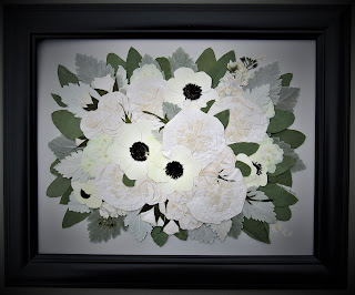 Pressed Flower Art made from a bridal bouquet