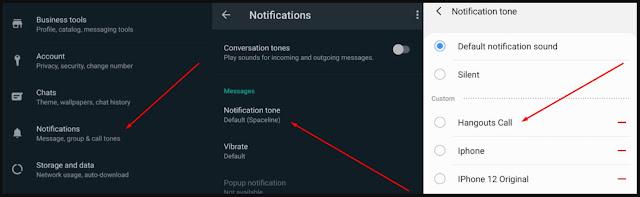 Cara mengganti nada dering notifikasi WA