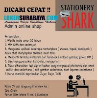 Walk In Interview di Stationery Shark Surabaya Juni 2020