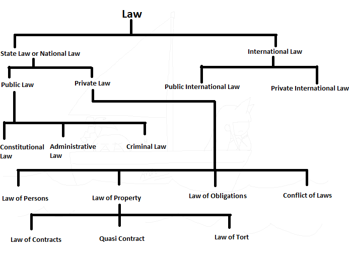 Classification of Law with the Help of Diagram  SRD Law Notes